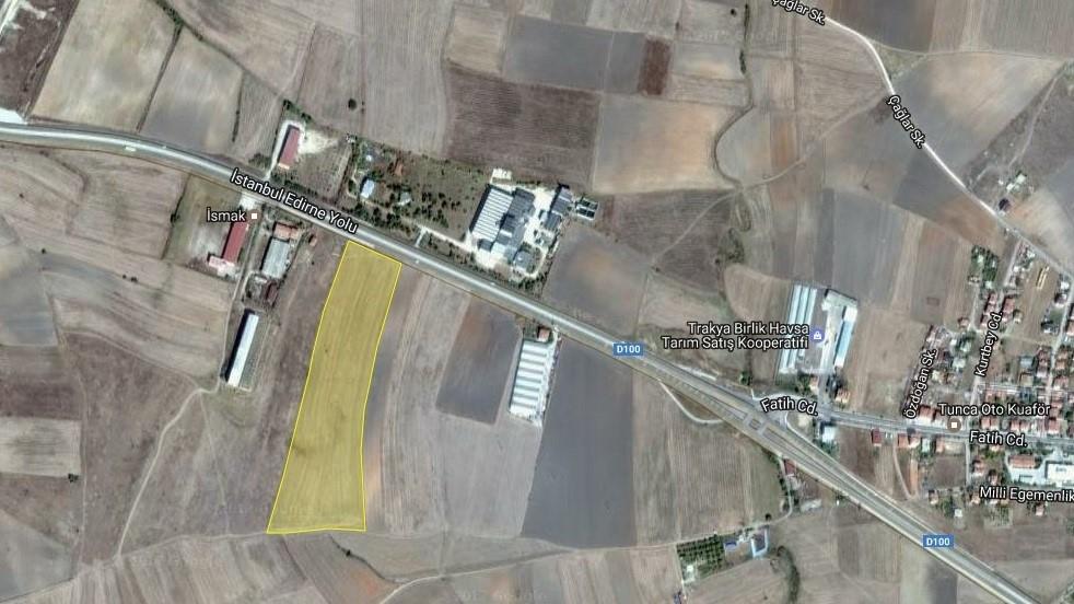 Eskidji Edirne Den Satılık 10000 M2 Sanayi İmarlı 51623 M2 Arazi